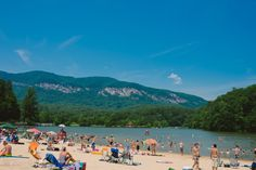 7. Lake Lure: nearish Asheville: A sandy beach, blue water, and mountain views are waiting for you at Lake Lure. Located near Chimney Rock, you can hike in the morning and cool off in the afternoon.