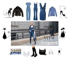"""""""Denim Overalls NYFW Street Style"""" by giselsimon ❤ liked on Polyvore featuring M.i.h Jeans, L.L.Bean, Miss Selfridge, Madden Girl, Bling Jewelry, BERRICLE and Kate Spade"""