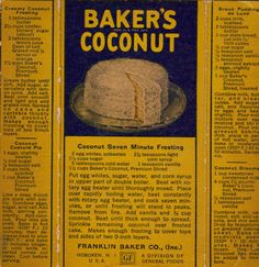 Coconut Vintage Recipes ~ Hand Written note cards, Pies, Frosting, Date Nut Bars, etc.