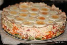 Sabo(tage)buch: Salattorte Reloaded - oder auch Schichtsalat in der Springfrom ;-)