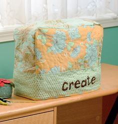 Personalize your sewing room with a pretty sewing-machine cover. From the book Sew Practical: 13 Fun-to-Sew Designs for You and Your Home.