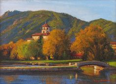SOLD I Broadmoor Autumn I 6x8 I Dix Baines I Fine Artist Original Oil Paintings I Mountains I The Broadmoor Hotel I www.dixbaines.com