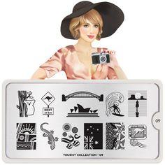 Nail Art Image Plates Tourist Collection 09