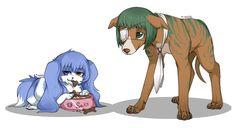 Saiko e Mutsuki cães - Tokyo Ghoul