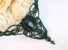 Tmavozelený náhrdelník s čiernym achátom / mika - SAShE. Outfit, Handmade, Wedding, Fashion, Buxus, Outfits, Valentines Day Weddings, Moda, Hand Made