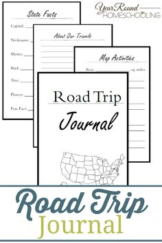 This Road Trip Journal is a great way to have your kids keep track of your travels, adventures, learn geography and have a memento on the return home! Road Trip Activities, Road Trip Games, Geography Activities, Road Trip With Kids, Travel With Kids, Smash Book, Kids Travel Journal, Roadtrip Journal, Road Trip Planner