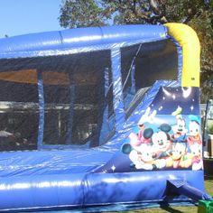 Side of World of Disney Bouncy Castle  #WorldofDisney #bouncycastle #jumpingcastle #inflatables #play #kids