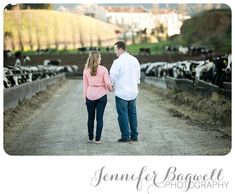 personalize your engagement session... she grew up on a dairy farm so their session was at the farm