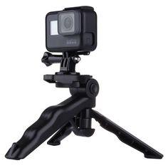 [$1.45] PULUZ Grip Folding Tripod Mount with Adapter & Screws for GoPro HERO5 /4 /3+ /3 /2 /1, SJ4000, Digital Cameras, Load Max: 2kg(Black)