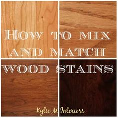 how to mix and match wood stains and types including oak, cherry, maple and more. including undertones for flooring, cabinets and more House has cherry wood, not thrilled