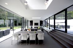 Designed by Architects DMOA, this stunning home in Belgium has been fitted with products by Reynaers at Home.