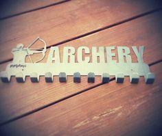 Archery medal display by SecondHandMetalArt on Etsy