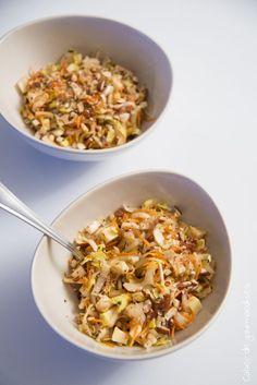 Salade dendives carottes et amandes
