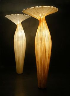 Morning Glory Lamp by Aqua Creations. Love these! They look like a combination of jellyfish and mushrooms!
