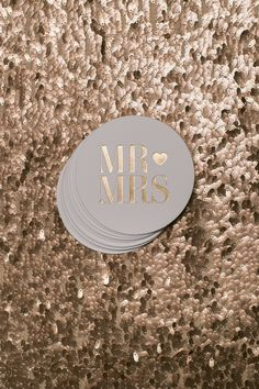 Fairytale Wedding / Round Foil Coasters