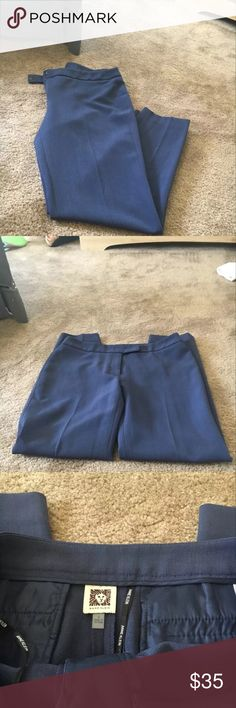 Anne Klein dress pants NWOT Anne Klein dress pants in a beautiful blue color. Size four Anne Klein Pants Trousers
