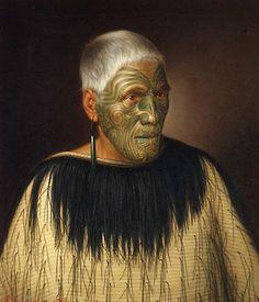 Wi Te Manewha oil on canvas - Māori Portraits by Gottfried Lindauer Maori Face Tattoo, Once Were Warriors, Maori Words, Polynesian People, Maori People, Popular Paintings, New Zealand Art, Maori Art, Oil Portrait