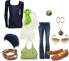 """""""navy and green"""" by kristafliss on Polyvore"""
