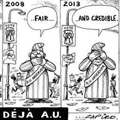 Mugabe ré-réélu : le dessin du jour, par Zapiro