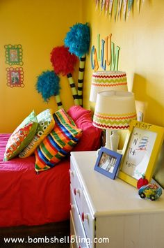 Dr Seuss Bedroom --- This is the coolest kid room EVER!!
