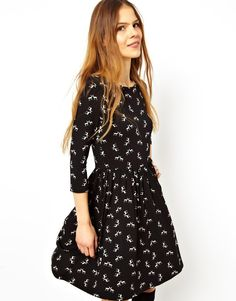 ASOS Skater Dress In Christmas Reindeer Print - This is my alternate to a Christmas jumper this year