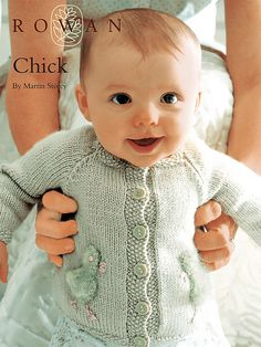 Free knitting pattern for Chick Baby Cardigan by Martin Storey for Rowan tba