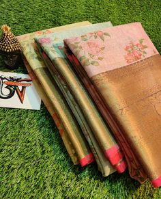 Buy 3 Latest chanderi tissue digital print sarees with blouse 8897195985 Trendy Sarees, Fancy Sarees, Printed Sarees, Siri, Digital Prints, Designers, Blouse, Stuff To Buy, Dresses