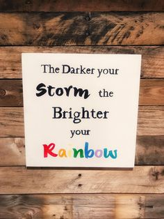Reclaimed Wood Sign; Inspirational Quote Sign; Farmhouse Decor;Inspirational Wall Art;Stenciled Wood Sign; Rainbow Art; Quote Print by NickleDesigns on Etsy