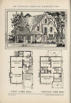 510 Best VinTagE HOUSE PlanS~1930s images in 2020 | Vintage ... Rag House Plans on
