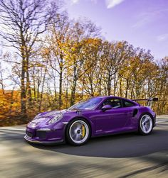 Porsche 991 GT3 RS painted in Ultraviolet Purple Photo taken by: @drivingforceclub on Instagram (@gt3rs_mrpurple on Instagram is the owner of the car)