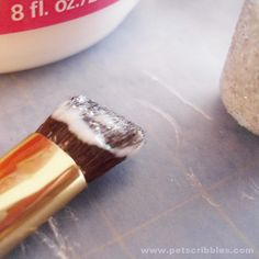 How to prevent glitter from falling off! - Glitter Mod Podge! Used it for a glittery champagne bottle once. works good!