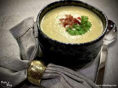 سوپ سيب زمينى با تره فرنگى – وبلاگ ويدا