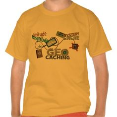 Fun design featuring geocache text art, compass, gps, treasure chest and other delightful details. People of all ages enjoy a scavenger hunt for hidden treasure and this is the perfect tee for the Geocacher hobbyist.