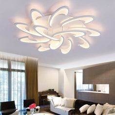 modern led on sale at reasonable prices, buy New Creative Modern Led Ceiling Lights living room bedroom Home Decoration ceiling Lamp lamparas de techo colgante moderna from mobile site on Aliexpress Now! Dining Room Ceiling Lights, False Ceiling Living Room, Modern Led Ceiling Lights, Ceiling Light Design, Chandelier In Living Room, Living Room Lighting, Room Lights, Ceiling Chandelier, Ceiling Lighting
