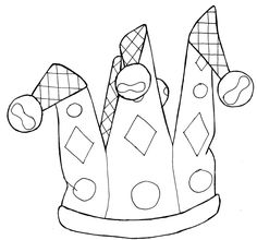 coloring pages hats | jester hat Colouring Pages