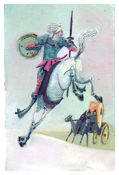 Ilustração, Rafa Anton, para o Livro D. Quijote de La Mancha , editora do Brasil