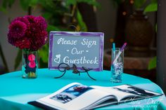 guest book at Franciscan Gardens