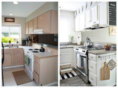 Modern Farmhouse Small Kitchen Remodel Concrete Countertops Cement Counter Kitchen Ideas Kitchen Redo