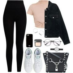 Cute Outfits For School, Cute Casual Outfits, Outfits For Teens, Pretty Outfits, Stylish Outfits, Really Cute Outfits, Kpop Fashion Outfits, Girls Fashion Clothes, Teen Clothing