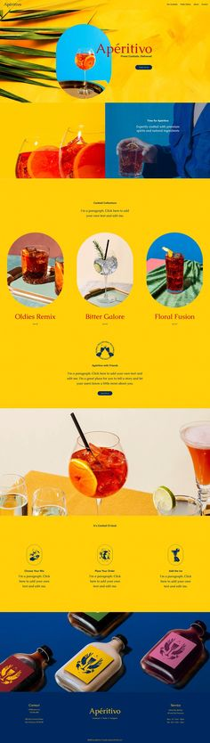Wix Website Template | Cocktail Delivery Service Website Template