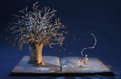 The Little Prince ~ Portfolio Book-Cut Sculpture by Su Blackwell, Altered Books Books Art, Paper Pop, Altered Book Art, Portfolio Book, The Little Prince, Paper Artist, Sculpture Art, Paper Sculptures, Paper Cutting