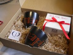 Gift box with the (special edition)) and Black Mug with personalized decoration done by hand