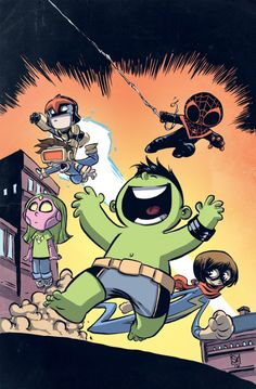 Champions #1 Baby Variant - Skottie Young