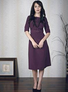 cute modest purple dress