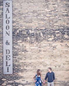 Because saloon and deli go together.  Just like these two... #engaged #gettingmarried #weddinginspo #kincardineweddingphotographer #lakehuronwedding #engagementsession #shesaidyes #ido #anneedgarphoto