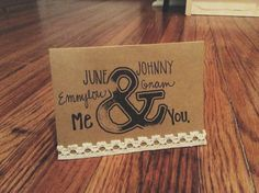Love card. You and Me. Greeting card. by NutmegNotes on Etsy