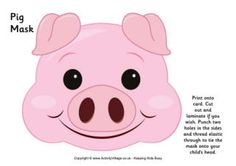 Pig mask and more animals