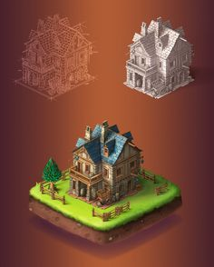 Woodville | Game Art Project on Behance