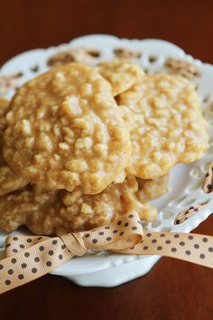 No-Bake Peanut Butter Rice Krispies Treats® Pralines — This delicious homemade cookie is the perfect kid-friendly dessert for summer. This nutty recipe will go perfectly with a big bowl of vanilla ice cream at your cookout or barbecue. Delicious Desserts, Dessert Recipes, Yummy Food, Cereal Recipes, Candy Recipes, Sweet Recipes, Cookie Recipes, Tasty, Rice Crispy Treats