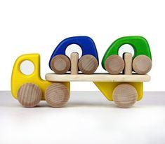 Auto transporter wooden toy | Bajo | shelf / life